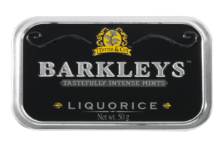 Barkleys Liquorice Peppermints Tin 50g